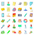 clerk icons set cartoon style vector image vector image