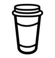 coffee plastic cup icon vector image vector image