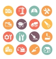 Construction colored Icons set vector image vector image