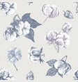 cotton seamless pattern vector image vector image