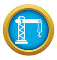 crane icon blue isolated vector image vector image