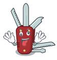 crazy penknife in a cartoon bag vector image vector image