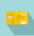 credit bank card icon flat style vector image vector image
