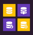 database data storage icons vector image