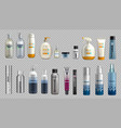 digital realistic bottles set collection vector image vector image