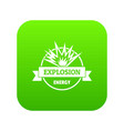energy explosion icon green vector image vector image