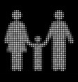 family child halftone icon vector image vector image