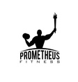 fitness prometheus with man holding a torch vector image