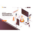 flat color modern isometric concept - innovative vector image vector image