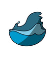 fresh cold water with waves vector image