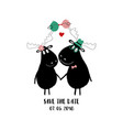 funny holding hands moose vector image vector image