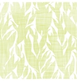 Green leaves textile texture seamless pattern vector image