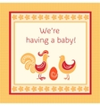 Greeting card we are having a baby vector | Price: 1 Credit (USD $1)