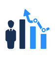 growing report icon vector image vector image