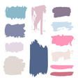 grunge watercolor ink texture set vector image vector image