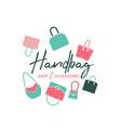handbag shop logo vector image vector image