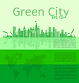 infographics Green modern city living concept vector image