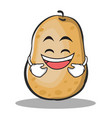 laughing potato character cartoon style vector image vector image