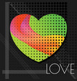 love abstract green vector image vector image