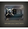 Metal safe isolated on black vector image vector image