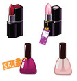 nail polish and lipstick of vector image