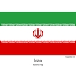 National flag of Iran with correct proportions vector image vector image