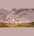 nature pollution plant pipe dirty waste air and vector image vector image