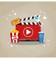 Online home cinema concept vector image vector image
