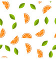 orange lemon seamless pattern vector image vector image