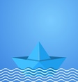Origami boat vector image