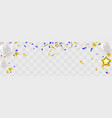 party balloons confetti and ribbons vector image vector image