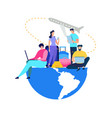 people booking airline tickets online flat vector image vector image