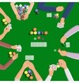 People playing in poker vector image vector image