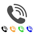 phone ring flat icon vector image vector image