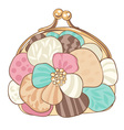 Pretty purse with pastel colors vector | Price: 1 Credit (USD $1)
