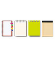 prset of note book or ripped paperint vector image