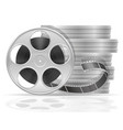 reel with cinema film stock vector image