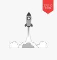 Rocket launch icon startup concept Flat design vector image vector image