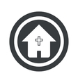 Round black christian house sign vector image