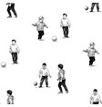 seamless background sketches little boys vector image