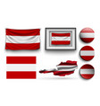set austria flags collection isolated vector image