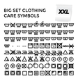 Set Clothing Care Symbols vector image