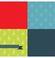 Set of 4 Christmas and New Year seamless patterns vector image vector image