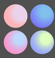set of gradient futuristic circles design vector image vector image
