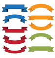 Set of old ribbon banner eps10 vector image vector image