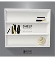 Shelf template vector image