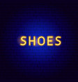 shoes neon text vector image vector image