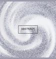 silver confetti glitters on creamy swirling vector image vector image