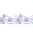 Soft purple flowers horizontal seamless pattern vector image