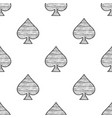 spades seamless pattern sketch vector image vector image